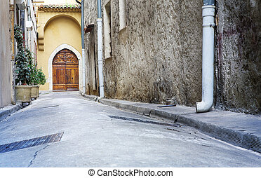 Antibes #72 - A quiet street in Antibes, France. Copy space....