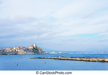 Antibes #88 - A town overlooking the sea in Antibes, France....