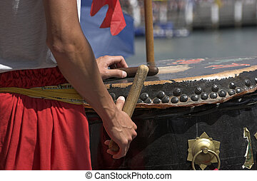 Dragon Drum - Drumming to scare evil spirits for Chinese New...