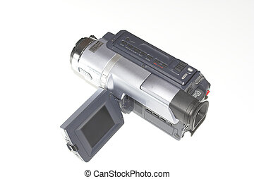 camcorder over white
