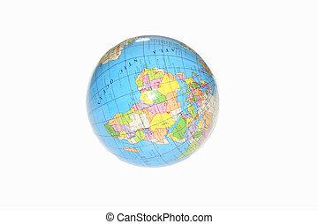 globe over white