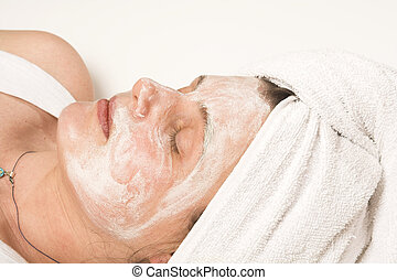 spa mask over white