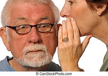 The Secret-Worry - Wife whispers into husband ear