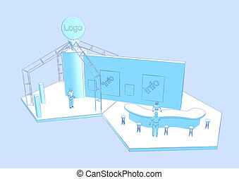 exhibition stand - illustration of a exhibition...