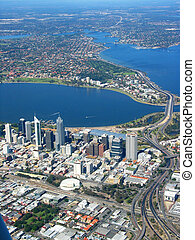 Perth City Aerial View 2 - An aerial view of Perth City 2