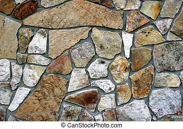 Decorative Rock Wall - Closeup of decorative rock wall