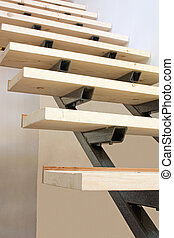 Constructing stairs - A \\\'floating\\\' staircase under...