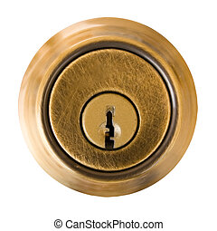 Key Hole - Dead Bolt Lock External Shield with Key Slot...