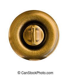 Door Knob - Brass Door Knob with a Lock Switch Clipping Path...