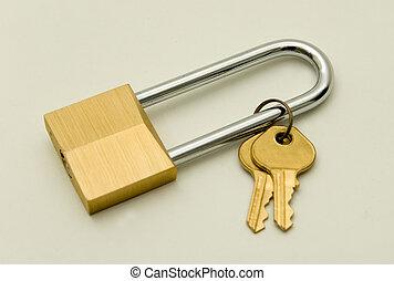 Lock and Keys - Keys and Lock with extra long hardened steel...