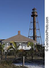 Sanibel Island lighthouse, Sanibel Florida America united...