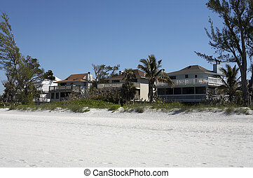 Beach front houses on captiva island Florida America united...