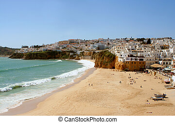 beach village - Fisherman\\\'s beach, Albufeira, Algarve,...