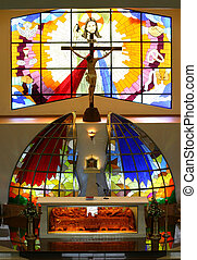 Altar Stained glass - Newfangled stained glass church...