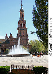 seville tourism - Plaza de Espana in Seville, Spain