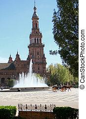 seville tourism - Plaza de Espana in Seville, Spain