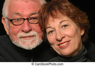 Middle Age Love - Mature loving happy couple