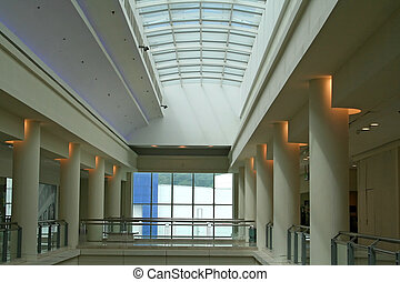Skylight - Interior architectural view of a skylight,...