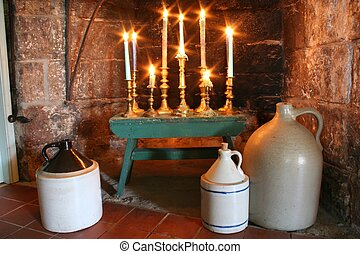Country Candelabrum - Glowing Candles Illuminate the...