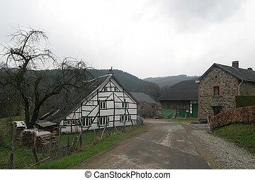 Old farm in Ardennes Belgium