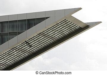 parte, moderno, oficina, edificio