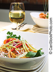 Singapore Salad - Exotic salad made with vermicelli, green...