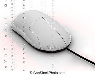 option mouse - a mouse with the yesno options on the...