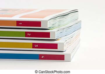 4 Books - 4 books on a white background
