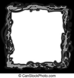Art Neavou frame - photoshop layer mask picture frame.