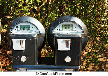"""Parking Meter - Parking meter with \\\""""fail\\\"""" text"""