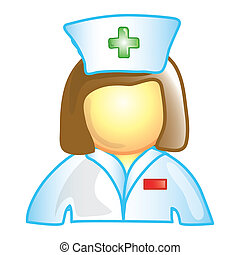 Nurse icon - Stylized icon of a female nurse (File 1 of 20...
