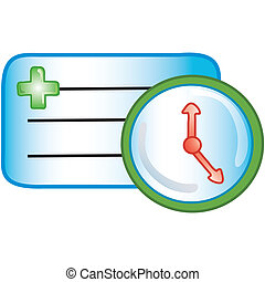 Patient appointment icon - Stylized icon of patient...