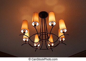 Light fixture closeup