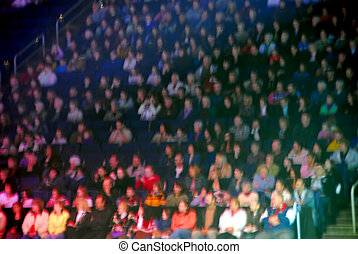 Spectators blur - Spectators in an arena, image is blurred...