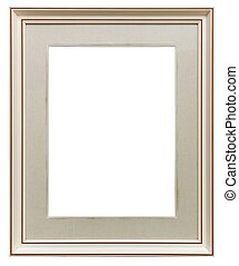 White wooden frame - White frame isolated