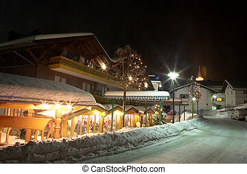 Kirchberg 20 - Restaurant and streets in Kirchberg, Germany...