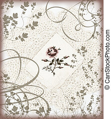 embroidered lace - vintage lace with embroidery