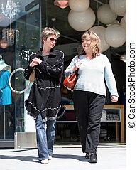 Girls shopping - 2 women shopping