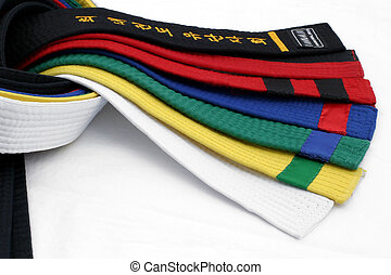 Martial Arts Belts 4 - From White Belt to Black belt