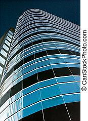 Blue towerblock - City towerblock rendered blue