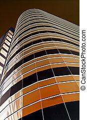 Brown towerblock - City towerblock rendered brown