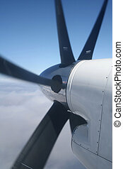 Propeller - Plane propeller in the sky