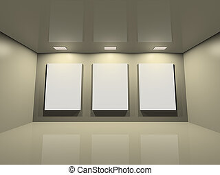 Website gallery - clean creme grey - Virtual exposition -...