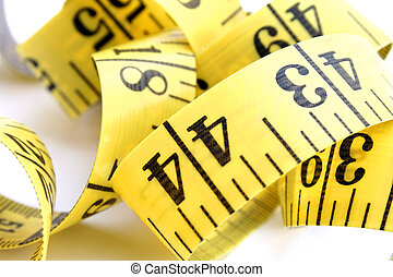 Tape Close-Up - Close-up of measuring tape