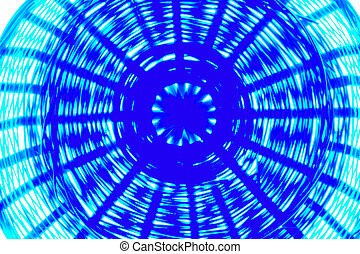 blue psychodelic breadbasket - bottom of a breadbasket in...