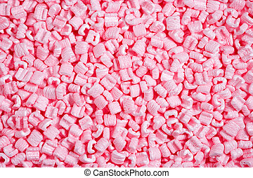 polystyrene - pink packaging material