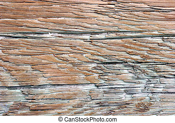 Weathered Wood - Closeup of weathered wood surface.