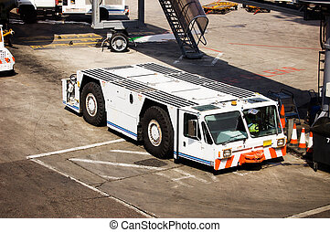 Aircraft Tow Tractor at Kuwait International Airport