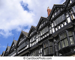 Old Black and White Buildings in Chester England