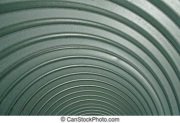 Culvert Swirl - Inside a steel culvert